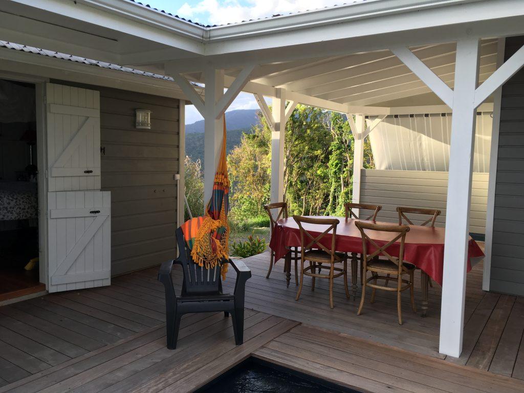 Location gite avec grande terrasse pour 4 en Guadeloupe