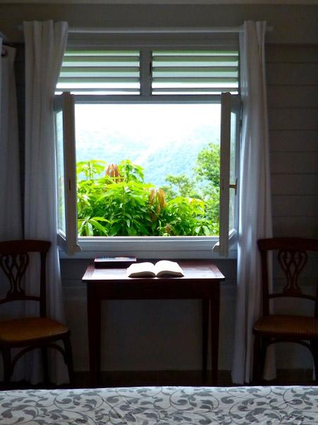 La chambre de l'écrivain en Guadeloupe