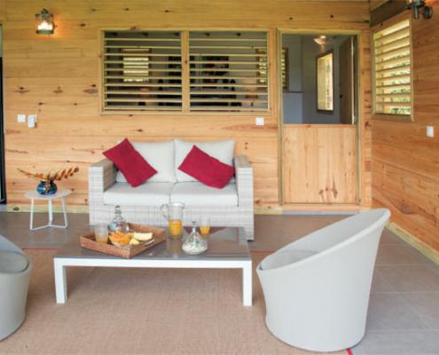 Location de villa pour 4 avec terrasse en guadeloupe