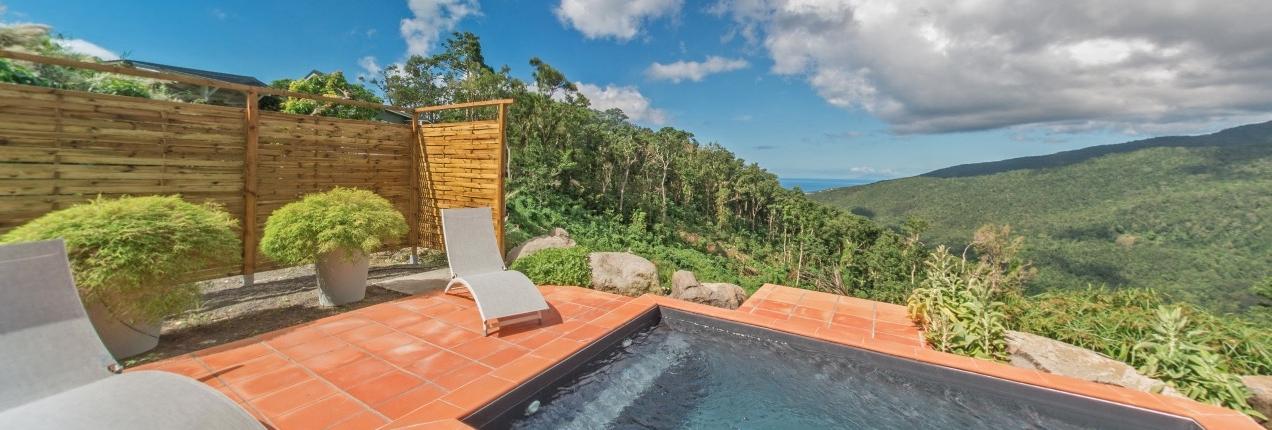 Visite virtuelle gite guadeloupe avec piscine