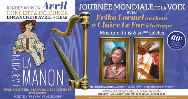 Concert déjeuner à Pointe Noire en Guadeloupe Avril